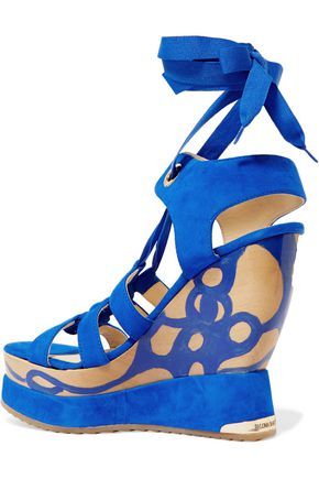 PALOMA BARCELÓ Ariella suede wedge sandals