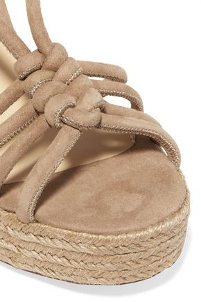 PALOMA BARCELÓ Colette knotted suede wedge sandals
