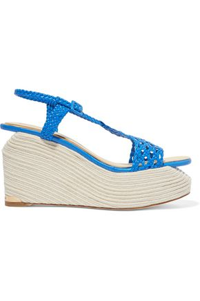 PALOMA BARCELÓ Lauren braided leather wedge sandals