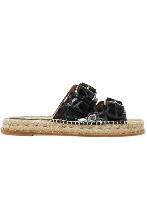 PALOMA BARCELÓ Rachele buckled croc-effect leather sandals