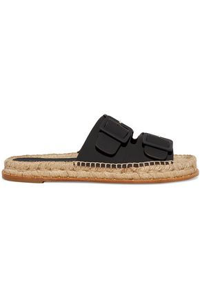 PALOMA BARCELÓ Rachele buckled leather espadrilles