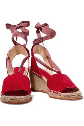 PALOMA BARCELÓ Roxane suede espadrille wedge sandals