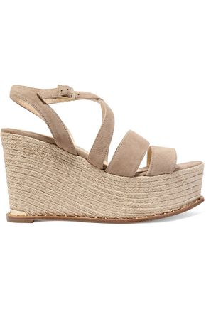 PALOMA BARCELÓ Uliana suede wedge espadrille sandals