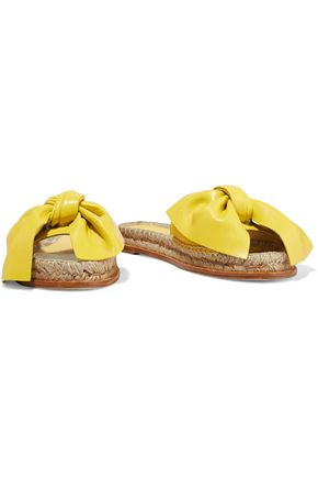 PALOMA BARCELÓ Xena bow-embellished leather espadrille slides