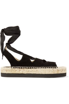 PALOMA BARCELÓ Anita lace-up suede espadrille sandals