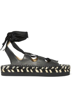 PALOMA BARCELÓ Anita lace-up leather espadrille sandals