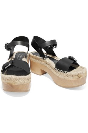 PALOMA BARCELÓ Felipa textured-leather sandals