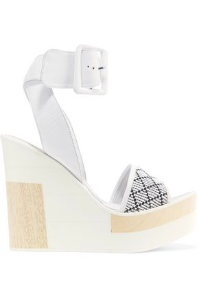 PALOMITAS by PALOMA BARCELÓ Juanita woven leather wedge sandals