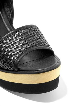 PALOMA BARCELÓ Juanita woven leather wedge sandals