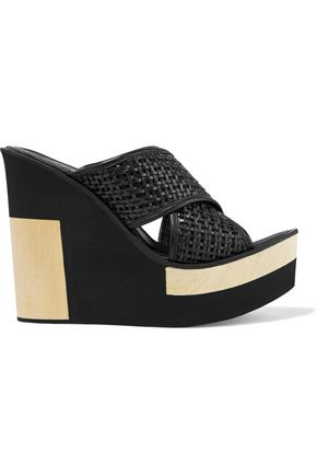 PALOMA BARCELÓ Julia woven leather wedge sandals