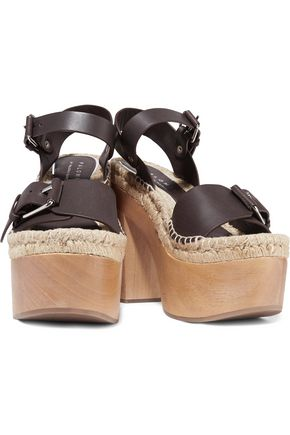 PALOMA BARCELÓ Lucia leather platform espadrille sandals
