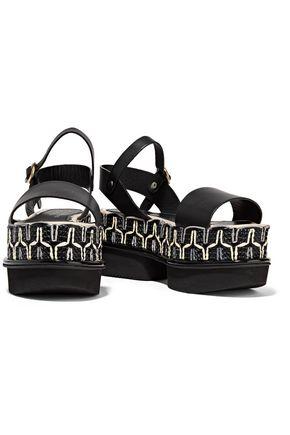 PALOMA BARCELÓ Ramira Arab leather platform sandals