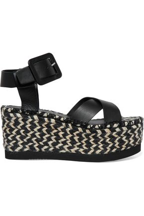 PALOMA BARCELÓ Soledad woven leather platform sandals