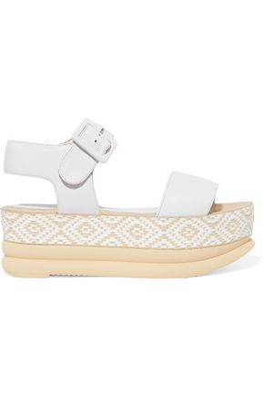PALOMITAS by PALOMA BARCELÓ Talia woven leather platform sandals