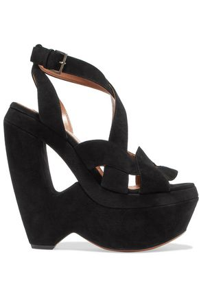 ALAÏA Suede wedge sandals