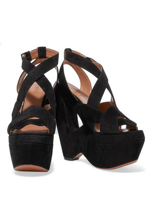 6a2c9dbd979 ALAÏA Suede wedge sandals  ALAÏA Suede wedge sandals ...