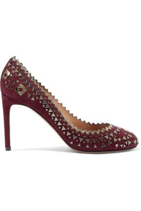 ALAÏA Embellished suede pumps
