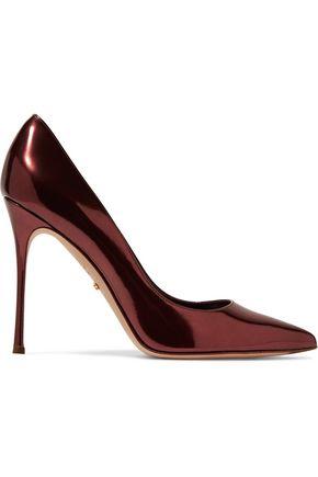 SERGIO ROSSI Metallic patent-leather pumps