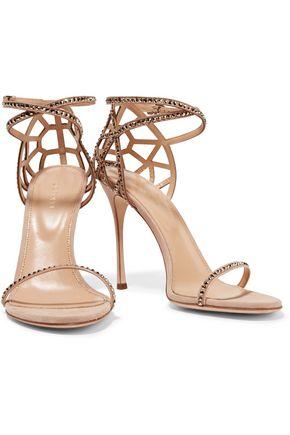 SERGIO ROSSI Royal Strass crystal-embellished suede sandals