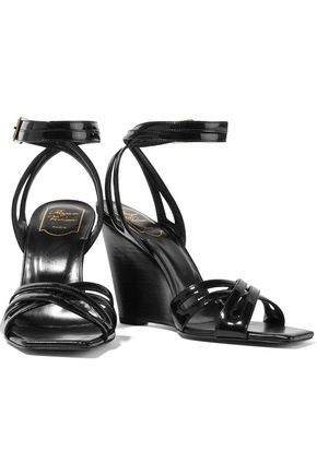 ROGER VIVIER Patent-leather wedge sandals