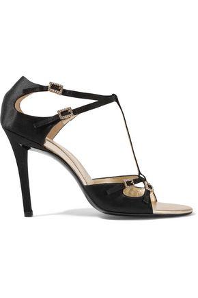 ROGER VIVIER Crystal-embellished satin sandals