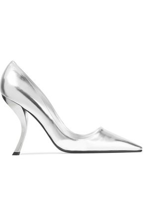 ROGER VIVIER Metallic leather pumps