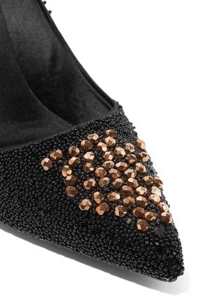 ROGER VIVIER Embellished satin pumps