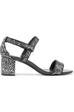 SANDRO Aurele glittered leather sandals