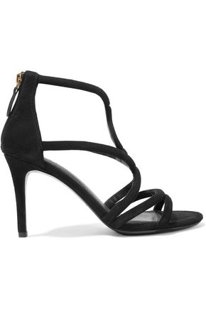 SANDRO Paris Alzira cutout suede sandals
