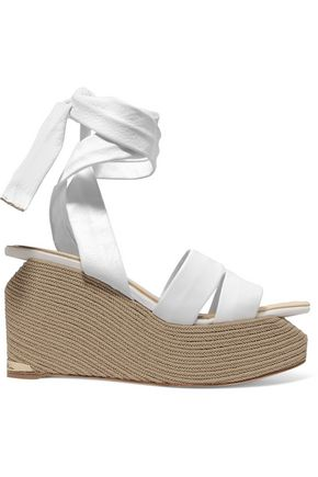 PALOMA BARCELÓ Luise lace-up leather platform wedge sandals