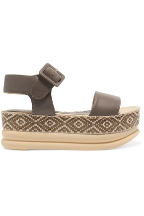 PALOMA BARCELÓ Talia woven leather platform sandals
