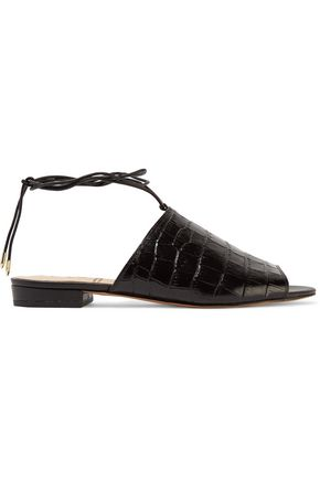 SAM EDELMAN Tai croc-effect leather sandals