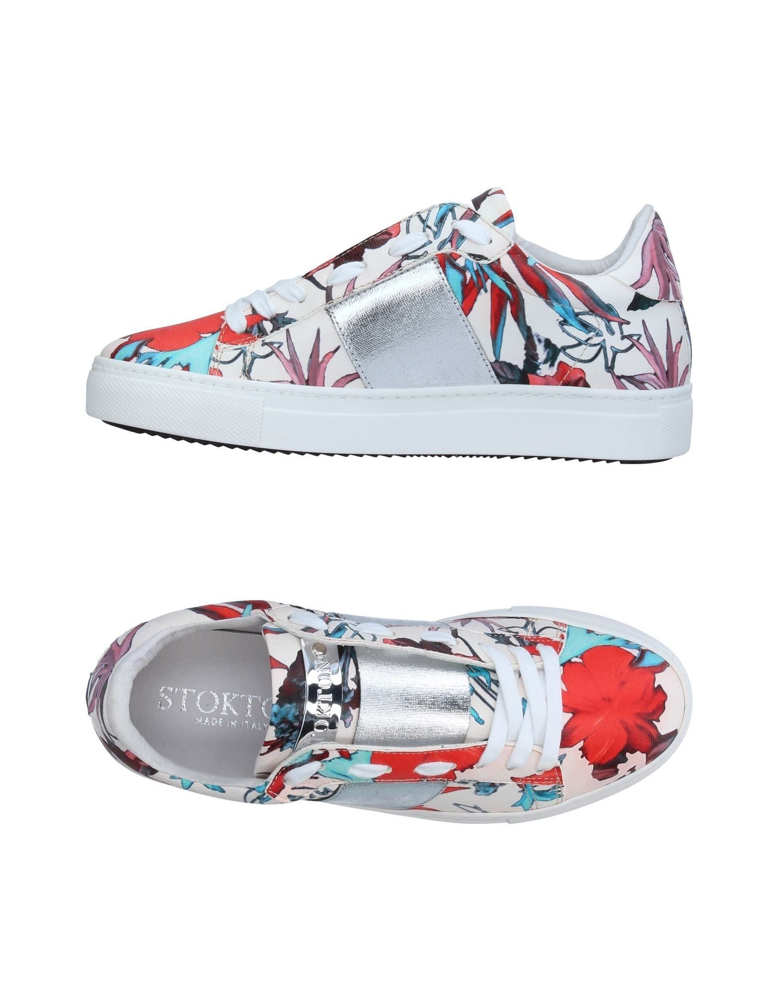 STOKTON Damen Low Sneakers & Tennisschuhe Farbe Rosa Größe 3