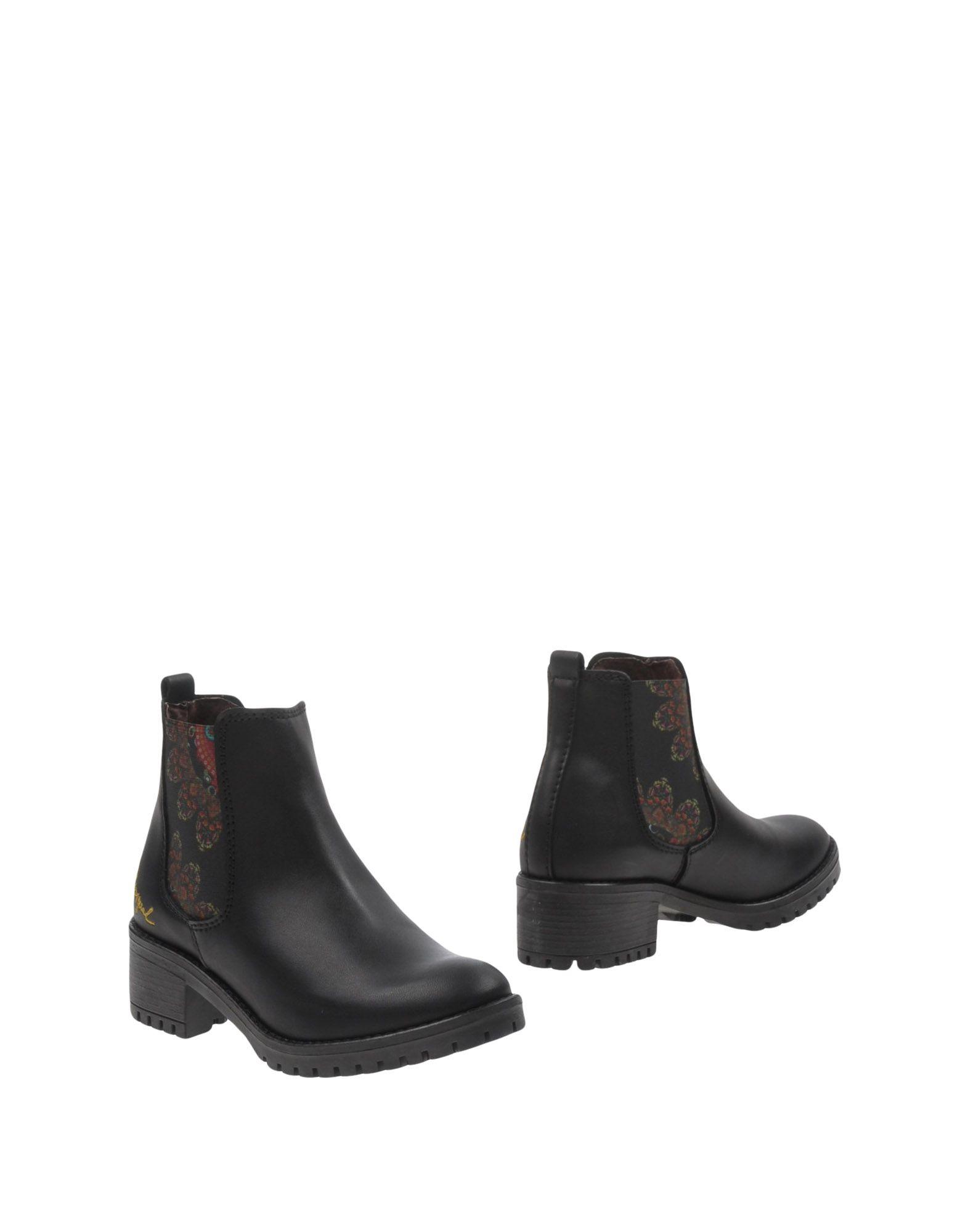 《期間限定セール中》DESIGUAL レディース ショートブーツ ブラック 39 紡績繊維
