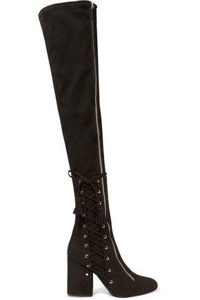 LAURENCE DACADE Maren stretch-suede over-the-knee boots