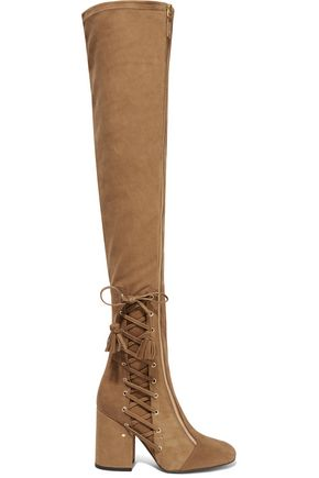 LAURENCE DACADE Maren stretch-suede over-the-knee boots