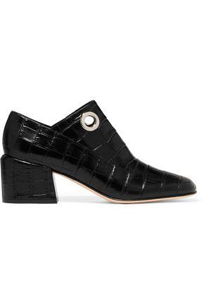 TIBI Marlow croc-effect leather pumps