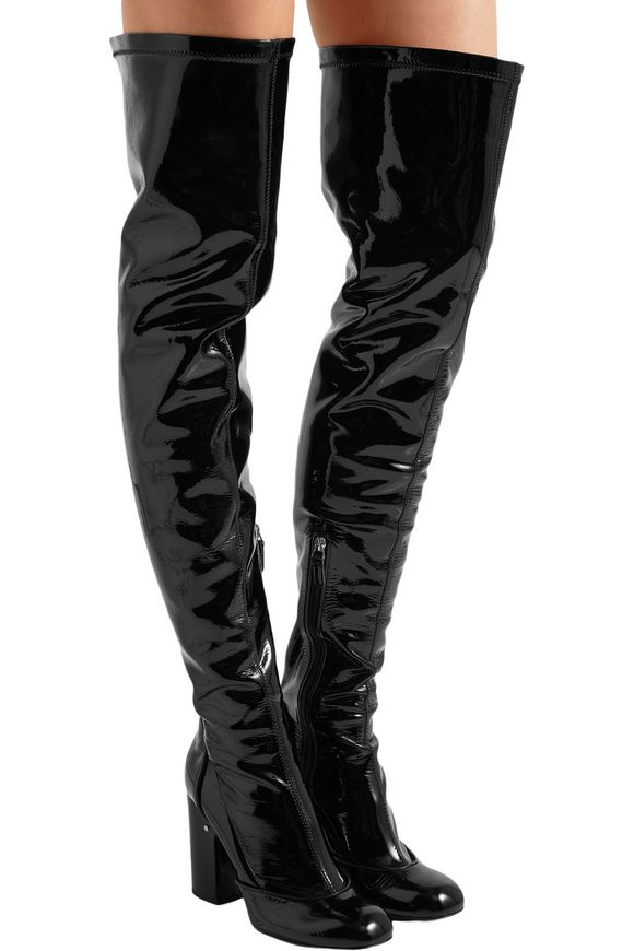 a18a1f46886 Madison patent-leather over-the-knee boots