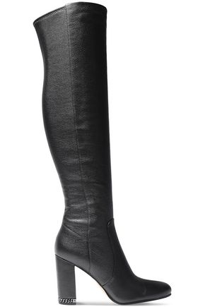 MICHAEL MICHAEL KORS Sabrina textured-leather knee boots
