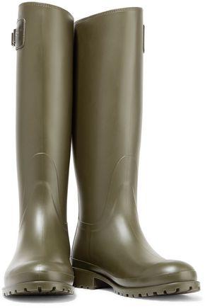 SAINT LAURENT Festival 25 leather-trimmed rubber rain boots