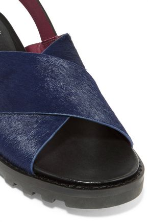 MARC BY MARC JACOBS Calf hair and leather sandals