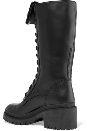 MARC BY MARC JACOBS Leigh shearling-trimmed leather boots