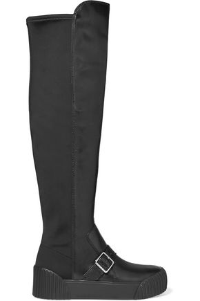 MARC BY MARC JACOBS Thompson paneled leather and neoprene knee boots