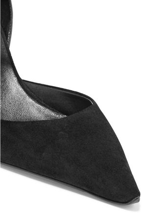 ROGER VIVIER Paneled leather and suede pumps