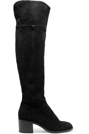 WOMAN ASHBY SUEDE OVER-THE-KNEE BOOTS BLACK