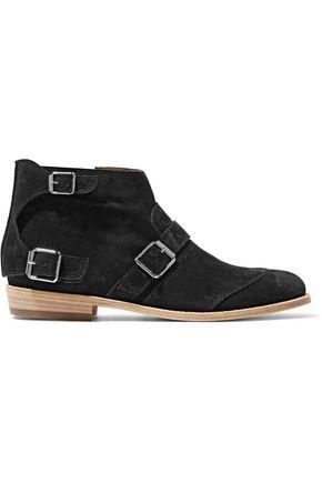 BELSTAFF Bassenthwaite buckled suede ankle boots
