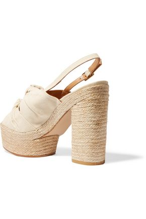 CASTAÑER Abbey canvas espadrille platform sandals