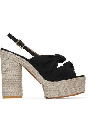 CASTAÑER Canvas platform sandals