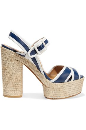 CASTAÑER Two-tone leather sandals