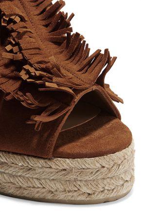 CASTAÑER Bakana fringed suede wedge sandals